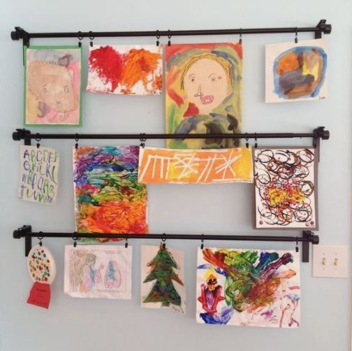 Area to Hang Child's Artwork from School